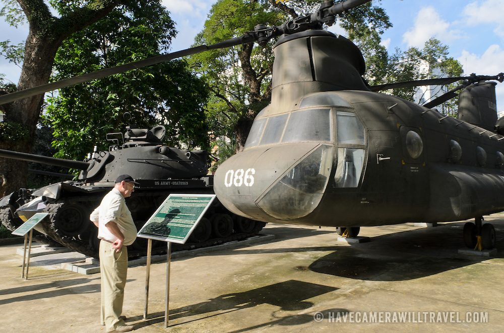 An American Chinook helicopter on display outside the War Remnants Museum in Ho Chi Minh City (Saigon), Vietnam.