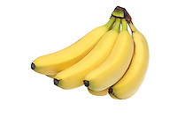 Bananas on white background - close-up