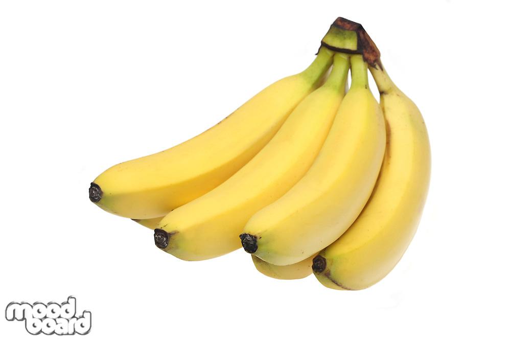 Bananas on white background - close-up