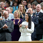 LONDON, ENGLAND - JULY 15: Claire Liu of the United States with her trophy after winning the Girls' Junior Singles title during the Wimbledon Lawn Tennis Championships at the All England Lawn Tennis and Croquet Club at Wimbledon on July 15, 2017 in London, England. (Photo by Tim Clayton/Corbis via Getty Images)