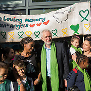 Jeremy Corbyn join the Grenfell Silent Walk - 1 Year On