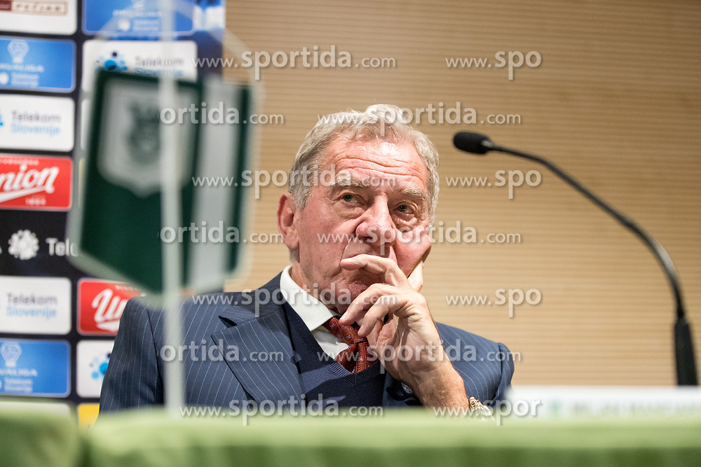 Milan Mandaric at press conference of NK Olimpija Ljubljana about new head coach Marijan Pusnik, on March 9, 2017 in Austria Trend Hotel, Ljubljana, Slovenia. Photo By Matic Klansek Velej / Sportida