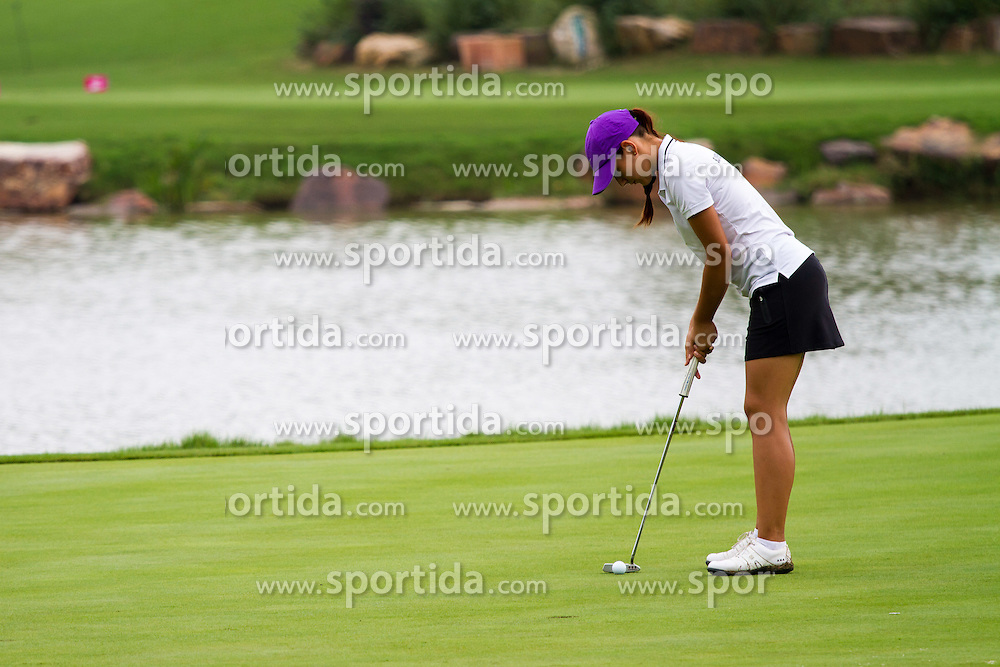 Ana Belac, slovenian golf player, at 2nd Youth Olympic Games in Nanjing, China. Photo by: Peter Kastelic