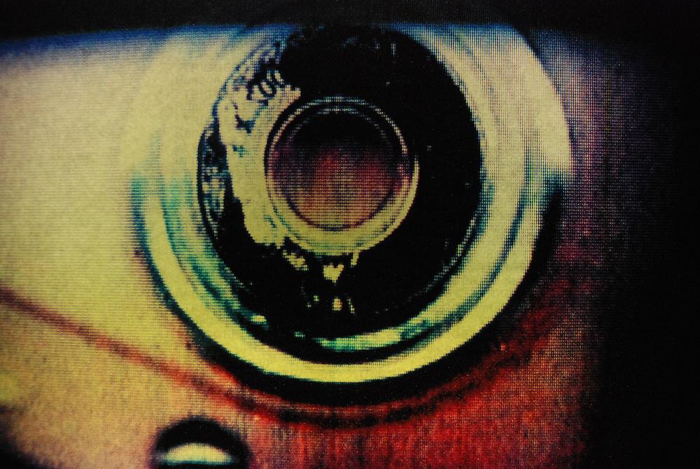 An abstract circular object looking like a mechanical eye