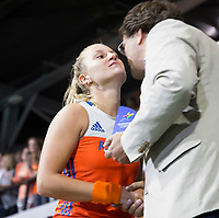 AMSTELVEEN - Laurien Leurink (Ned), maker van het mooiste doelpunt van het EK,  na de  damesfinale Nederland-Belgie bij de Rabo EuroHockey Championships 2017.   COPYRIGHT KOEN SUYK