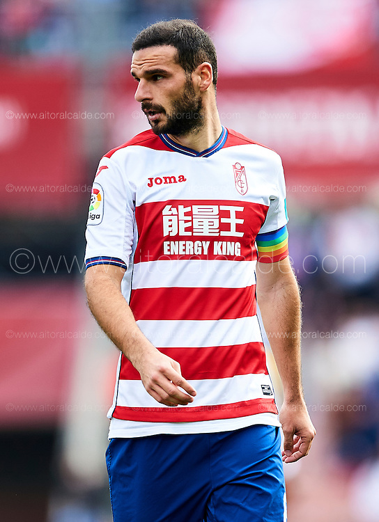 GRANADA, SPAIN - DECEMBER 03:  David Rodriguez Lomban of Granada CF looks on during the La Liga match between Granada CF and Sevilla FC at Estadio Nuevos Los Carmenes on December 03, 2016 in Granada, Spain.  (Photo by Aitor Alcalde Colomer/Getty Images)