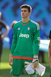 MANCHESTER, ENGLAND - Tuesday, September 15, 2015: Juventus' goalkeeper Mattia Del Favero before the UEFA Youth League Group D match against Manchester City at the City of Manchester Stadium. (Pic by David Rawcliffe/Propaganda)