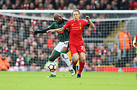 Football - 2016 / 2017 FA Cup - Third Round: Liverpool vs. Plymouth<br /> <br /> Lucas Leiva of Liverpool and Paul-Arnold Garcia of Plymouth Argyll during the match at Anfield.<br /> <br /> COLORSPORT/LYNNE CAMERON