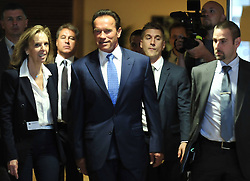 59895727  <br /> U.S. actor and former Governor of California Arnold Schwarzenegger (C) arrives for a meeting with European Commission President Jose Manuel Barroso (not seen) at the European Union headquarters in Brussel, capital of Belgium, Monday June 24, 2013.  Picture by imago / i-Images<br /> UK ONLY