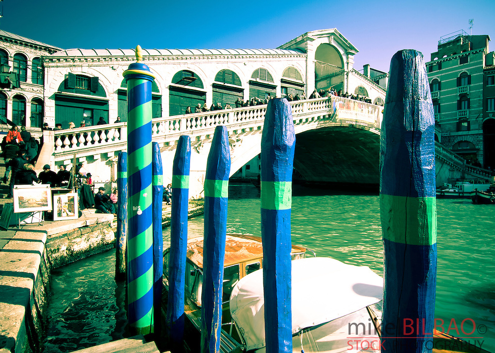 Grand Canal and Rialto Bridge. <br />