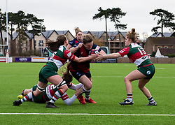 Sarah Bern of Bristol Bears Women closes in on the line to score - Mandatory by-line: Paul Knight/JMP - 11/01/2020 - RUGBY - Shaftesbury Park - Bristol, England - Bristol Bears Women v Firwood Waterloo Women - Tyrrells Premier 15s