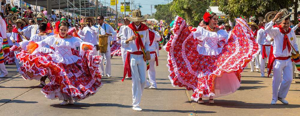 Barranquilla , Colombia  - February 27, 2017 :  people participating at the parade of the carnival festival of  Barranquilla Atlantico Colombia