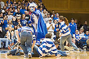 3 November 2009: The Blue Devil does some court surfing during a timeout..The Duke Blue Devils defeat the Findlay Oilers 84 -48 in an exhibition game. Kyle Singler had 20 points as Duke wraps up it's pre-season.. Mandatory Credit:Mark Abbott / Southcreek Global