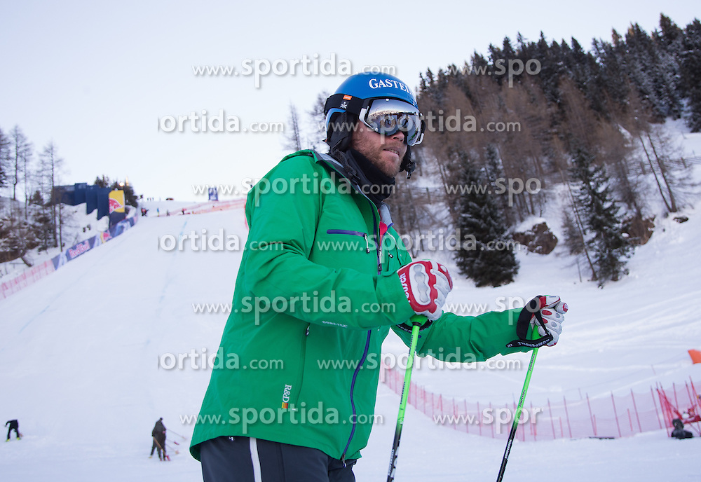 23.01.2013, Streif, Kitzbuehel, AUT, FIS Weltcup Ski Alpin, Abfahrt, Herren, 2. Training, im Bild Hans Grugger besichtigen die Streif // Hans Grugger visit the Streif before 2nd practice of mens Downhill of the FIS Ski Alpine World Cup at the Streif course, Kitzbuehel, Austria on 2013/01/23. EXPA Pictures © 2013, PhotoCredit: EXPA/ Johann Groder
