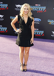 Emily Osment at the Los Angeles premiere of 'Guardians Of The Galaxy Vol. 2' held at the Dolby Theatre in Hollywood, USA on April 19, 2017.
