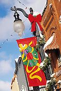 lampposts on Main Street, Park City Utah USA
