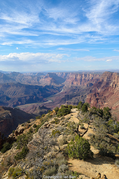 view from Desert View Watchtower, Grand Canyon National Park, Arizona.