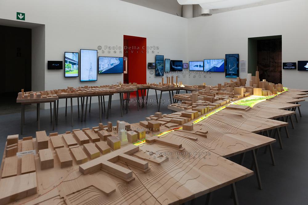 Venezia - 16. Mostra di Architettura. Padiglioni ai Giardini.  East Side Coastal Resiliency di Bjarke Ingels