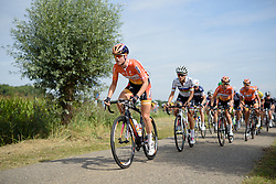 Amalie Dideriksen (Boels Dolmans) leads the peloton at the 111 km Stage 4 of the Boels Ladies Tour 2016 on 2nd September 2016 in 's-Hertogenbosch, Netherlands. (Photo by Sean Robinson/Velofocus).