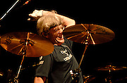 Drummer Stewart Copeland of The Police performs at Madison Square Garden on Wednesday, August 1, 2007 in New York.
