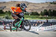Women Elite #75 (VAN BENTHEM Merle) NED at the 2018 UCI BMX World Championships in Baku, Azerbaijan.