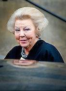 15-01-2014 Amsterdam PRINCESS BEATRIX arrive for the New Years reception at the Royal palace in Amsterdam.  COPYRIGHT ROBIN UTRECHT