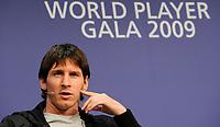 Fotball<br /> FIFA World Player Gala 2009<br /> 21.12.2009<br /> Foto: EQ Images/Digitalsport<br /> NORWAY ONLY<br /> <br /> Lionel Messi (ARG) an der Pressekonferenz.