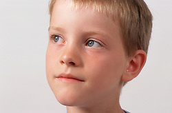 Closeup portrait of young boy,