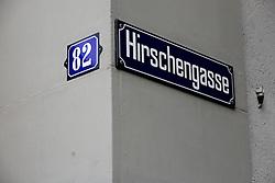 SWITZERLAND ZURICH 3MAR12 - Hirschengasse street sign in Zurich city centre, Switzerland. ....jre/Photo by Jiri Rezac....© Jiri Rezac 2012