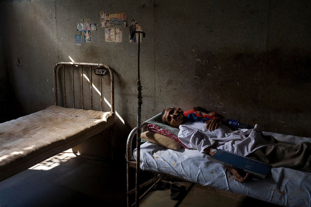 A patient rests at the Group of TB Hospitals in Mumbai, India.