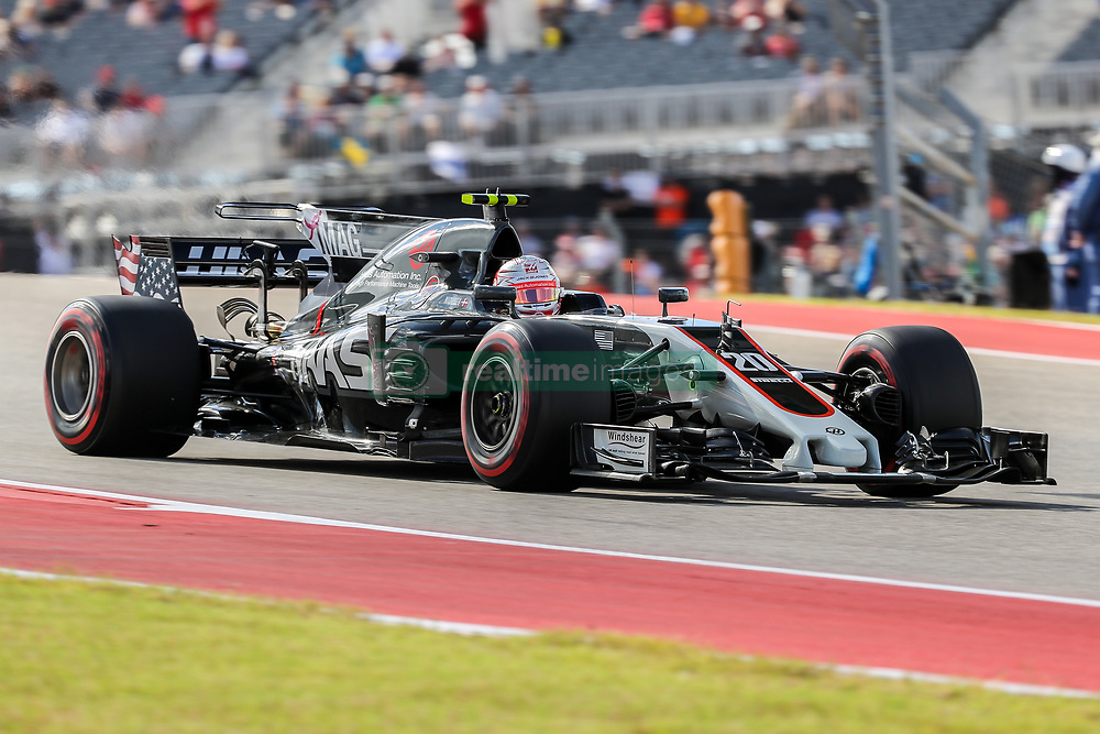 October 21, 2017 - Austin, Texas, U.S - Kevin Magnussian of Denmark (20) in action during the final practice before the Formula 1 United States Grand Prix race at the Circuit of the Americas race track in Austin,Texas. (Credit Image: © Dan Wozniak via ZUMA Wire)