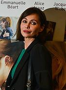 """Emmanuelle Béart à Bruxelles  lors de l'avant-première """"Les yeux jaunes des crocodiles"""""""