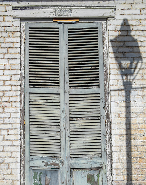 NEW ORLEANS - CIRCA FEBRUARY 2014: Typical window and facade in the New Orleans French Quarter in Louisiana.
