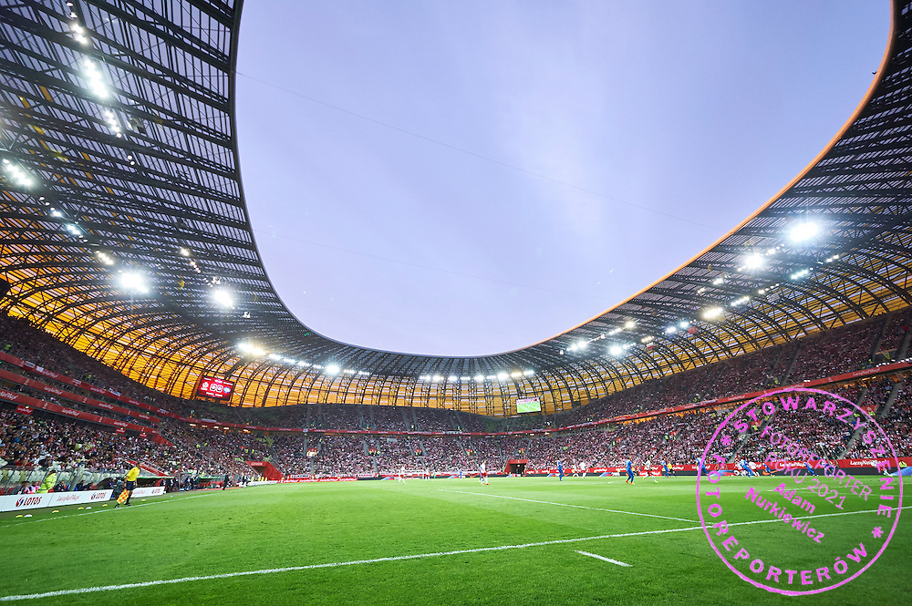 General view of the stadium during international friendly soccer match between Poland and Greece at PGE Arena Stadium on June 16, 2015 in Gdansk, Poland.<br /> Poland, Gdansk, June 16, 2015<br /> <br /> Picture also available in RAW (NEF) or TIFF format on special request.<br /> <br /> For editorial use only. Any commercial or promotional use requires permission.<br /> <br /> Adam Nurkiewicz declares that he has no rights to the image of people at the photographs of his authorship.<br /> <br /> Mandatory credit:<br /> Photo by &copy; Adam Nurkiewicz / Mediasport