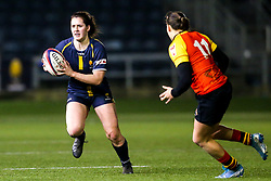 Megan Varley of Worcester Warriors Women takes on Lindsey Mayo of Richmond Women - Mandatory by-line: Robbie Stephenson/JMP - 11/01/2020 - RUGBY - Sixways Stadium - Worcester, England - Worcester Warriors Women v Richmond Women - Tyrrells Premier 15s