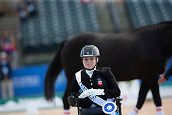 Tange Kaastrup Stinna, DEN, Horsebo Smarties<br /> Tryon - FEI World Equestrian Games™ 2018<br /> Siegerehrung<br /> Para-Dressur Grade Einzelentscheidung<br /> 19. September 2018<br /> © www.sportfotos-lafrentz.de/Sharon Vandeput