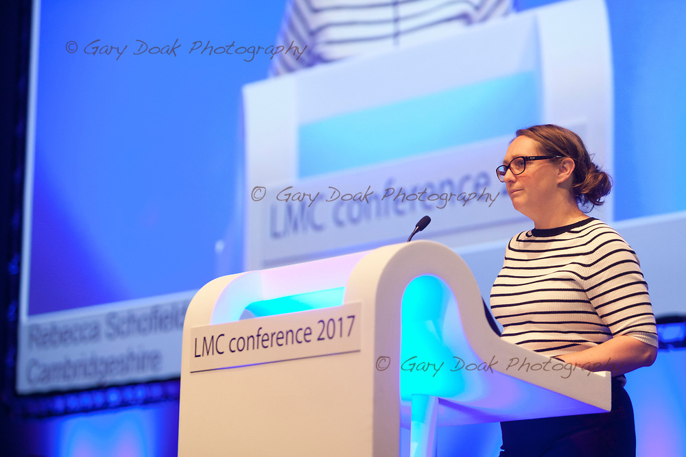 Rebecca Schofield<br /> BMA LMC's Conference<br /> EICC, Edinburgh<br /> <br /> 18th May 2017<br /> <br /> Picture by Gary Doak
