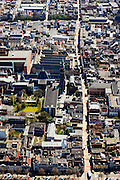 Nederland, Groningen, Groningen, 01-05-2013;<br /> Groningen-stad, centrum. Academiegebouw, Rijksuniversiteit Groningen, Oude Kijk in 't Jatstraat.<br /> View on the city of Groningen, old town. University building.<br /> luchtfoto (toeslag op standard tarieven)<br /> aerial photo (additional fee required)<br /> copyright foto/photo Siebe Swart