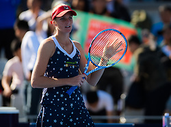 October 1, 2018 - Karolina Pliskova of the Czech Republic in action during her first-round match at the 2018 China Open WTA Premier Mandatory tennis tournament (Credit Image: © AFP7 via ZUMA Wire)