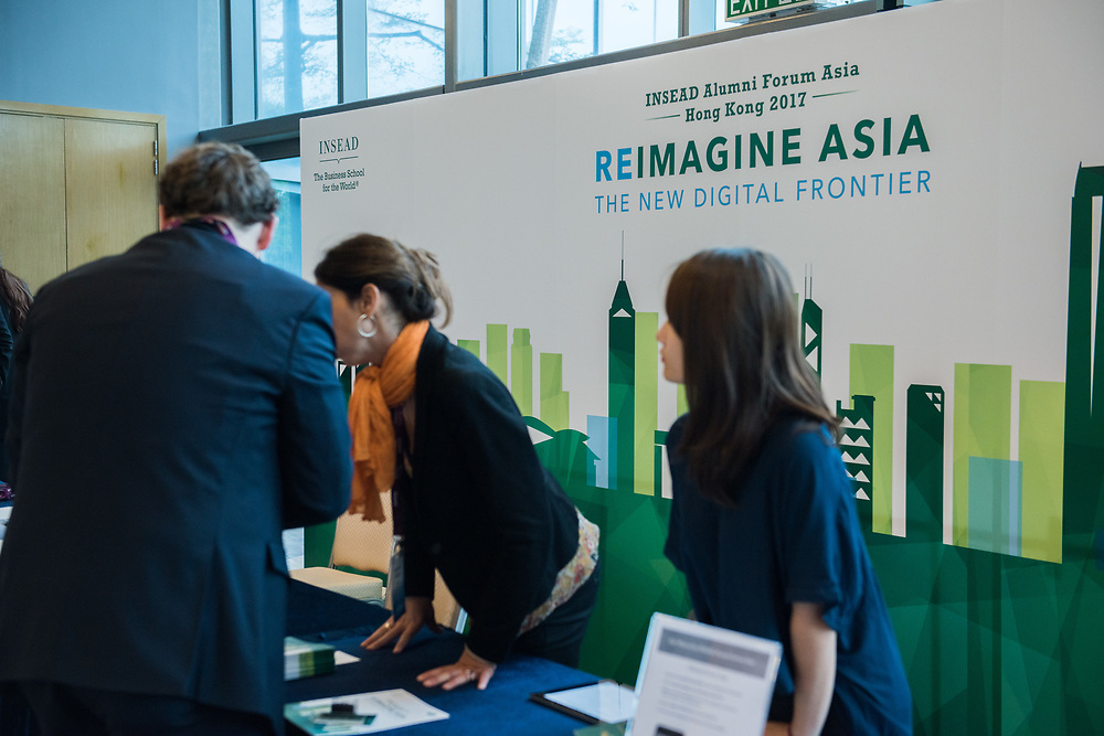 INSEAD Alumni attending the INSEAD Alumni Forum Asia, Hong Kong 2017 - Reimagine Asia The New Digital Frontier on Novr 18, 2017 in Cyberport, Hong Kong.<br /> <br /> Photo by Moses Ng/ MozImages