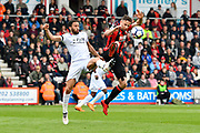 Andros Townsend (10) of Crystal Palace battles for possession with Marc Pugh (7) of AFC Bournemouth during the Premier League match between Bournemouth and Crystal Palace at the Vitality Stadium, Bournemouth, England on 7 April 2018. Picture by Graham Hunt.