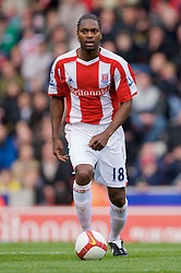 STOKE, ENGLAND - Sunday, October 19, 2008: Stoke City's Salif Diao during the Premiership match against Tottenham Hotspur at the Britannia Stadium. (Photo by David Rawcliffe/Propaganda)