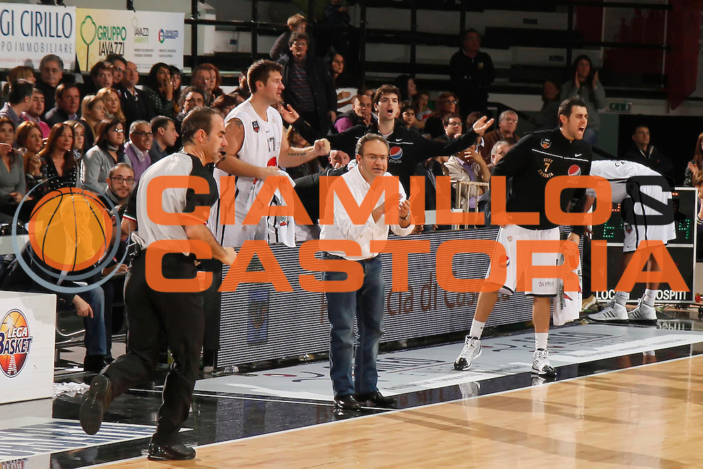DESCRIZIONE : Caserta Lega A 2011-12 Pepsi Caserta Scavolini Siviglia Pesaro<br /> GIOCATORE : Stefano Sacripanti<br /> SQUADRA : Pepsi Caserta<br /> EVENTO : Campionato Lega A 2011-2012<br /> GARA : Pepsi Caserta Scavolini Siviglia Pesaro<br /> DATA : 12/11/2011<br /> CATEGORIA : ritratto esultanza<br /> SPORT : Pallacanestro<br /> AUTORE : Agenzia Ciamillo-Castoria/A.De Lise<br /> Galleria : Lega Basket A 2011-2012<br /> Fotonotizia : Caserta Lega A 2011-12 Pepsi Caserta Scavolini Siviglia Pesaro<br /> Predefinita :