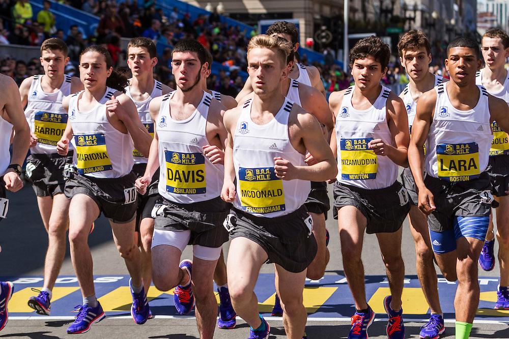 Boston Marathon: BAA Scholastic Mile, boys