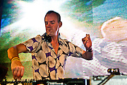 Fatboy Slim playing records at the Atmosphere Club in Johannesburg, South Africa, 2007.