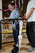 Hybrid Assistive Limb, Robot Suit HAL tillverkad av Cyberdyne, Japan<br /> NOT FOR COMMERCIAL USE UNLESS PRIOR AGREED WITH PHOTOGRAPHER. (Contact Christina Sjogren at email address : cs@christinasjogren.com )