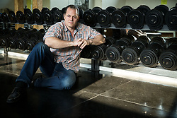 Portrait of Jernej Paulic, owner of Cube Fitness centre in Ljubljana, on April 24, 2018 in Cube Fitness, Ljubljana, Slovenia. Photo by Vid Ponikvar / Sportida