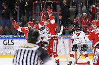 2020-03-07   Ljungby, Sverige: Troja jublar under matchen i Hockeyettan mellan IF Troja/Ljungby och Bodens HF i Ljungby Arena ( Foto av: Fredrik Sten   Swe Press Photo )<br /> <br /> Nyckelord: Ljungby, Ishockey, Hockeyettan, Ljungby Arena, IF Troja/Ljungby, Bodens HF, fstb200307, playoff, kval