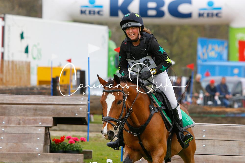 Devriendt Amber, BEL, Orchid's Calluna<br /> Nationale LRV-Eventingkampioenschap Ponies Minderhout 2017<br /> &copy; Hippo Foto - Kris Van Steen<br /> 29/04/17