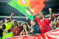 Portugal fans celebrate during futsal match between Spain and Portugal in Final match of UEFA Futsal EURO 2018, on February 10, 2018 in Arena Stozice, Ljubljana, Slovenia. Photo by Ziga Zupan / Sportida